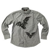 和柄長袖シャツ「蝙蝠」