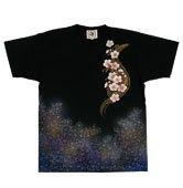 和柄半袖Tシャツ「七色櫻」