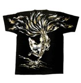 和柄半袖Tシャツ「九尾の狐」
