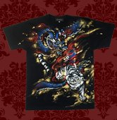 和柄スーパープレミアム半袖Tシャツ「四神」