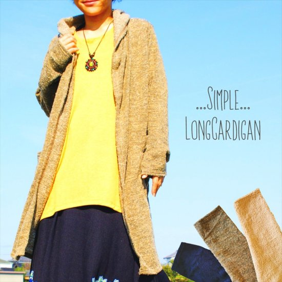 <img class='new_mark_img1' src='https://img.shop-pro.jp/img/new/icons33.gif' style='border:none;display:inline;margin:0px;padding:0px;width:auto;' />Simple あったかLongCardigan*3color