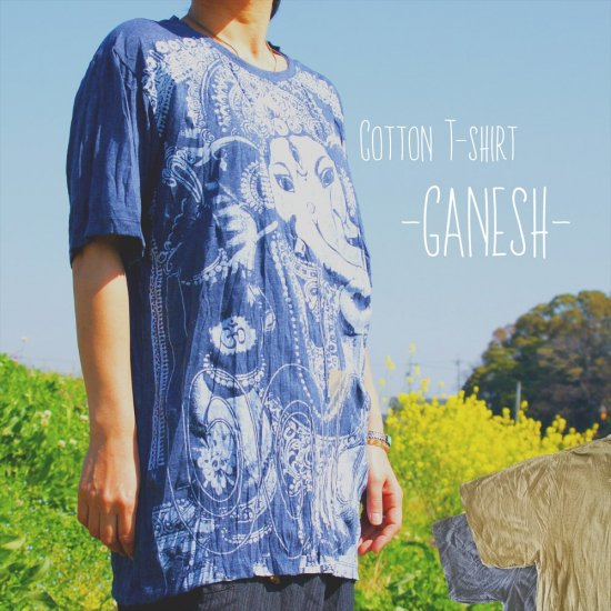 -GANESH-やわらかCotton T-shirt*2color