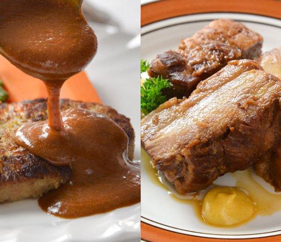山形牛入りソースたっぷりハンバーグ&山形のやっこい豚角煮 <span>【贈答品】</span>