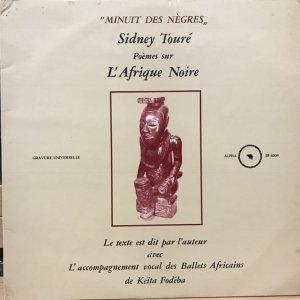 Sidney Touré / Minuit De Nègres : Poèmes Sur L'Afrique Noire (LP)