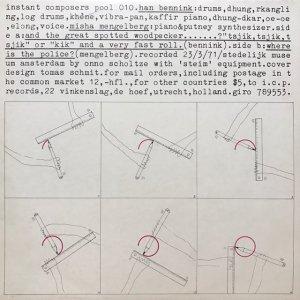 Han Bennink , Misha Mengelberg / Instant compasers Pool 010 (LP)