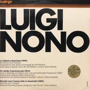 Luigi Nono / La Fabbrica Illuminata (LP)