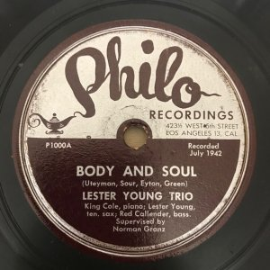 Lester Young Trio / Indiana/Body and Soul (SP)