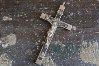 髑髏付きキリスト磔刑十字架 11cm