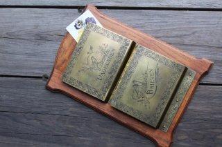 木製&真鍮 2段 レターホルダー