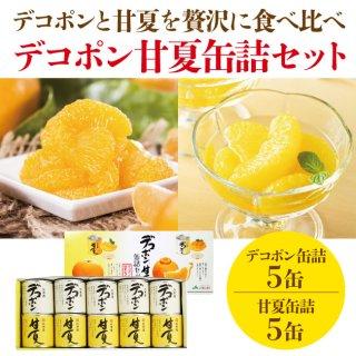 新鮮さをギュッ!甘過ぎない高級缶詰 デコポン・甘夏缶詰セット