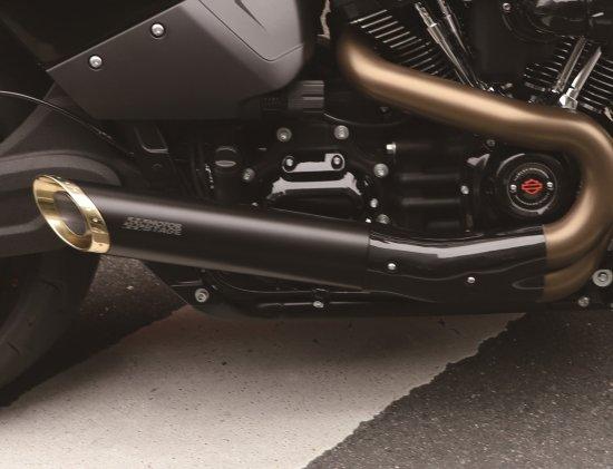 FXDR 114 2019~ 専用  スリップオンマフラー ボバースラッシュ/ステンレス黒塗装