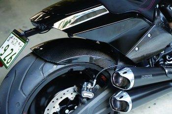 ハーレー FXDR114 パーツ ドライカーボンリアフェンダー