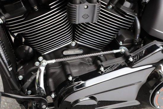 ハーレー FXDR114 パーツ ドライカーボン製シフトパイプ