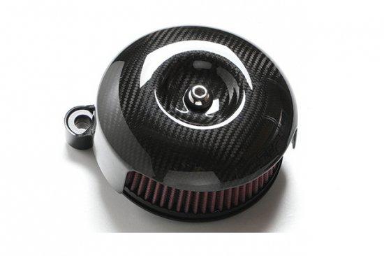 ソフテイルALLモデル用エアクリーナーキット ドライカーボンエアークリーナー S&Sステルスステージ1付属