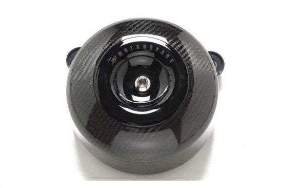 ソフテイルALLモデル用エアクリーナーキット ドライカーボンエアークリーナー ブラックミニカバー S&Sステルスステージ1付属