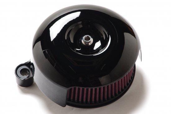 ソフテイルALLモデル用エアクリーナーキット 67ラウンド黒艶エアークリーナー S&Sステルスステージ1付属