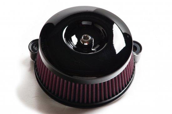 ツーリングALLモデル用エアクリーナーキット 55ラウンド/黒艶 エアークリーナー S&Sステルスステージ1付属