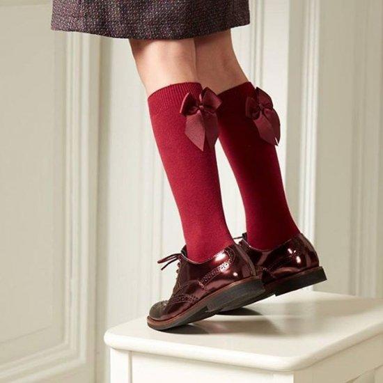 Condor - Back ribbon knee high socks