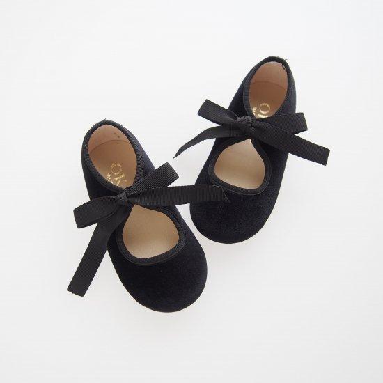 Velvet canvas angel shoes (Black)