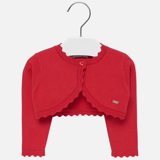 <img class='new_mark_img1' src='https://img.shop-pro.jp/img/new/icons14.gif' style='border:none;display:inline;margin:0px;padding:0px;width:auto;' />Mayoral -  Basic knitted cardigan (Red)