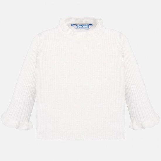 <img class='new_mark_img1' src='https://img.shop-pro.jp/img/new/icons23.gif' style='border:none;display:inline;margin:0px;padding:0px;width:auto;' />▽10% - Mayoral -  Rib mockneck sweater (Off white)