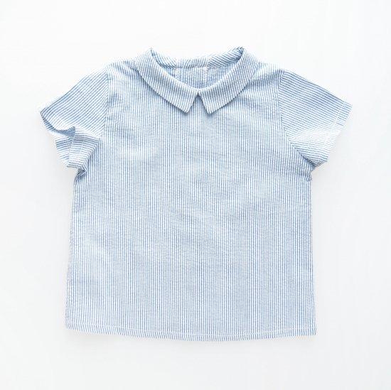 <img class='new_mark_img1' src='https://img.shop-pro.jp/img/new/icons23.gif' style='border:none;display:inline;margin:0px;padding:0px;width:auto;' />12m only! - ▽50% - Amaia Kids -  Mallard shirt (Blue stripe)