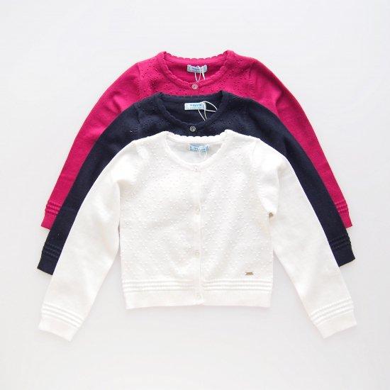 Mayoral - Dots cardigan (Fuchsia / Navy / White )