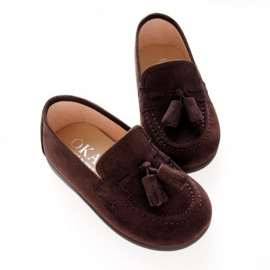 Canvas suede Moccasin with tassels (Brown)