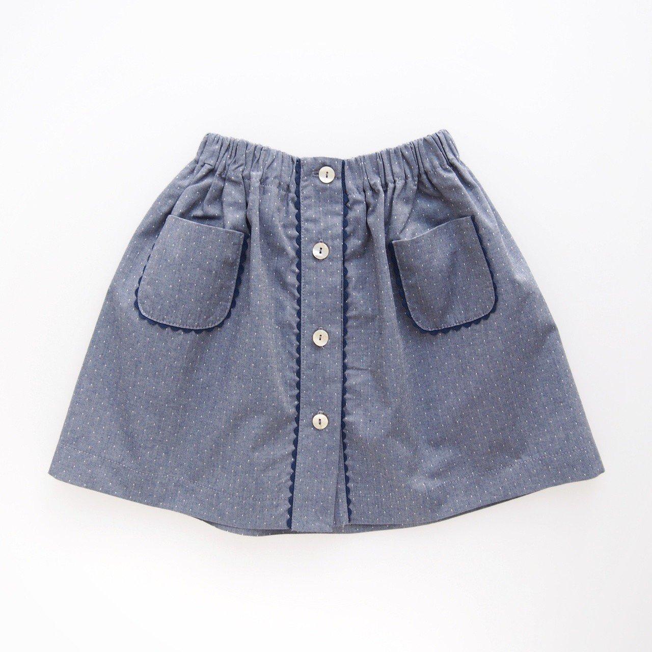 <img class='new_mark_img1' src='https://img.shop-pro.jp/img/new/icons14.gif' style='border:none;display:inline;margin:0px;padding:0px;width:auto;' />Amaia Kids - Juliette skirt (Dots denim)