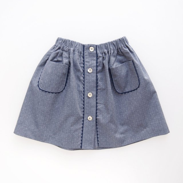 <img class='new_mark_img1' src='https://img.shop-pro.jp/img/new/icons14.gif' style='border:none;display:inline;margin:0px;padding:0px;width:auto;' />Amaia Kids - Juliette skirt (Dots denim)