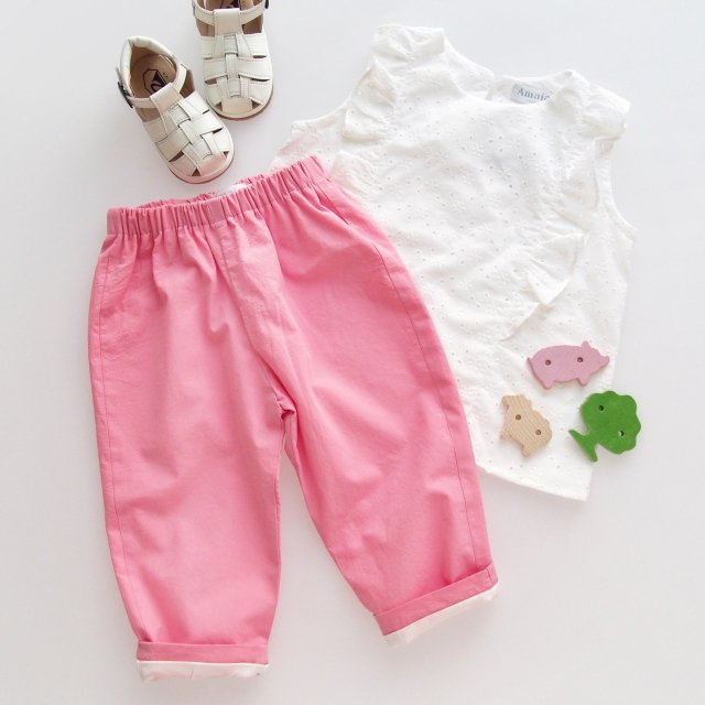 <img class='new_mark_img1' src='https://img.shop-pro.jp/img/new/icons14.gif' style='border:none;display:inline;margin:0px;padding:0px;width:auto;' />Amaia Kids - Tito trousers (Pink)