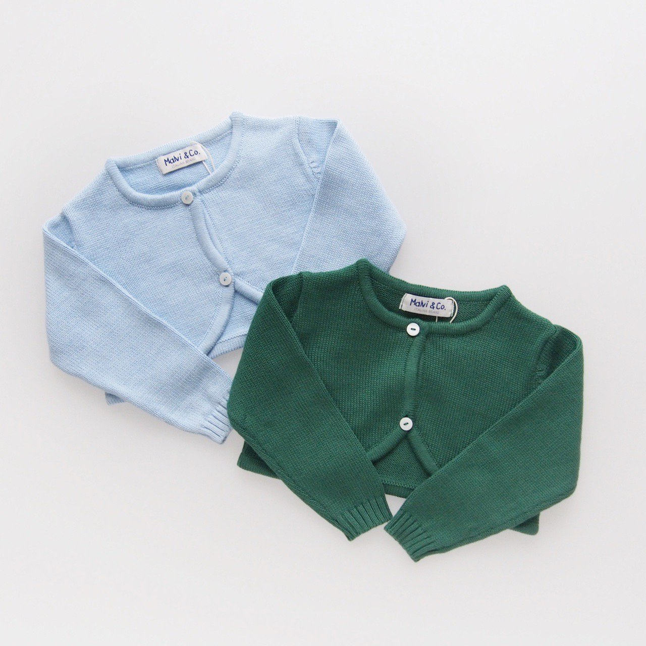 <img class='new_mark_img1' src='https://img.shop-pro.jp/img/new/icons14.gif' style='border:none;display:inline;margin:0px;padding:0px;width:auto;' />Malvi&Co. - Cotton bolero (Green/ Pale blue)