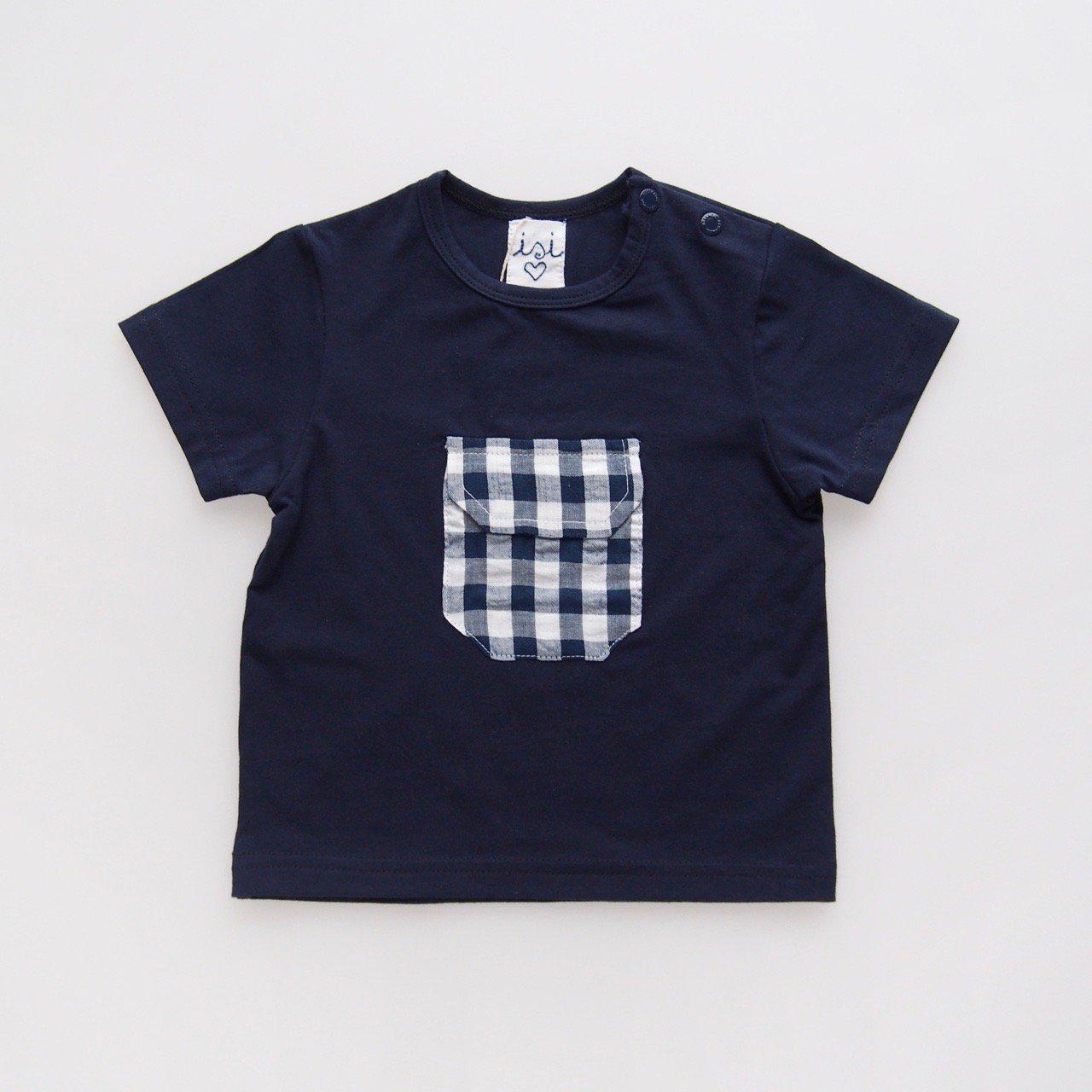 <img class='new_mark_img1' src='https://img.shop-pro.jp/img/new/icons14.gif' style='border:none;display:inline;margin:0px;padding:0px;width:auto;' />Malvi&Co. - Gingham pocket T-shirt (Green/ Navy)