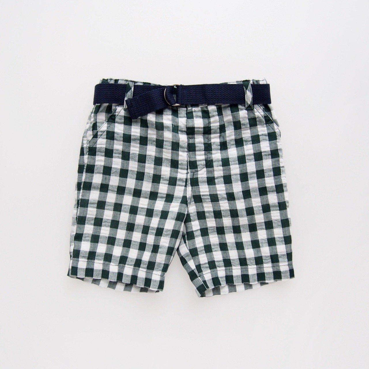 <img class='new_mark_img1' src='https://img.shop-pro.jp/img/new/icons14.gif' style='border:none;display:inline;margin:0px;padding:0px;width:auto;' />Malvi&Co. - Seersucker gingham shorts (Green/ Navy)