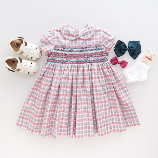 <img class='new_mark_img1' src='https://img.shop-pro.jp/img/new/icons14.gif' style='border:none;display:inline;margin:0px;padding:0px;width:auto;' />Amaia Kids - Shirley dress (Madras check)