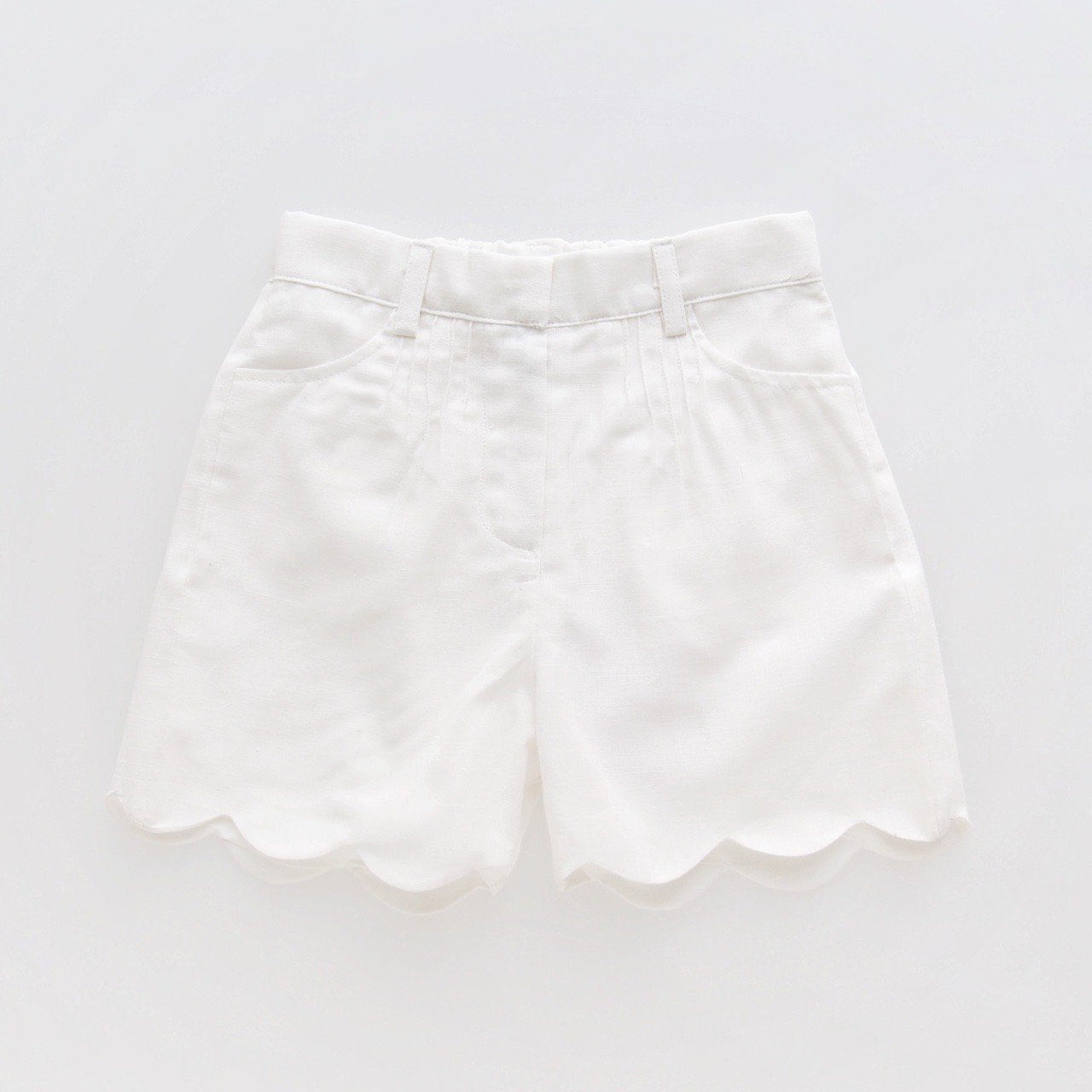<img class='new_mark_img1' src='https://img.shop-pro.jp/img/new/icons14.gif' style='border:none;display:inline;margin:0px;padding:0px;width:auto;' />Kidiwi - SANDRA shorts (White linen)