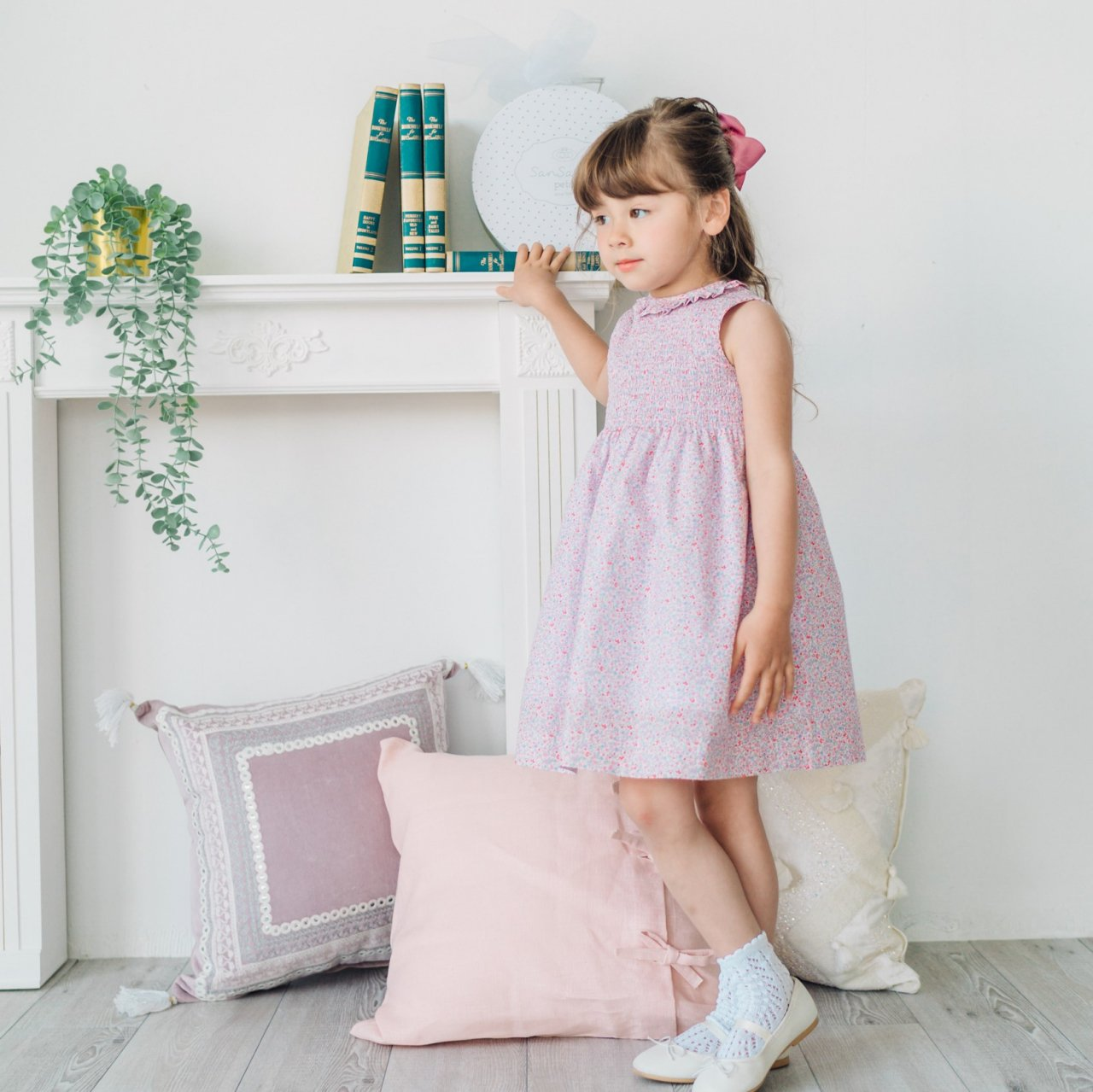 <img class='new_mark_img1' src='https://img.shop-pro.jp/img/new/icons14.gif' style='border:none;display:inline;margin:0px;padding:0px;width:auto;' />Pi & Pa - Floral shirring dress