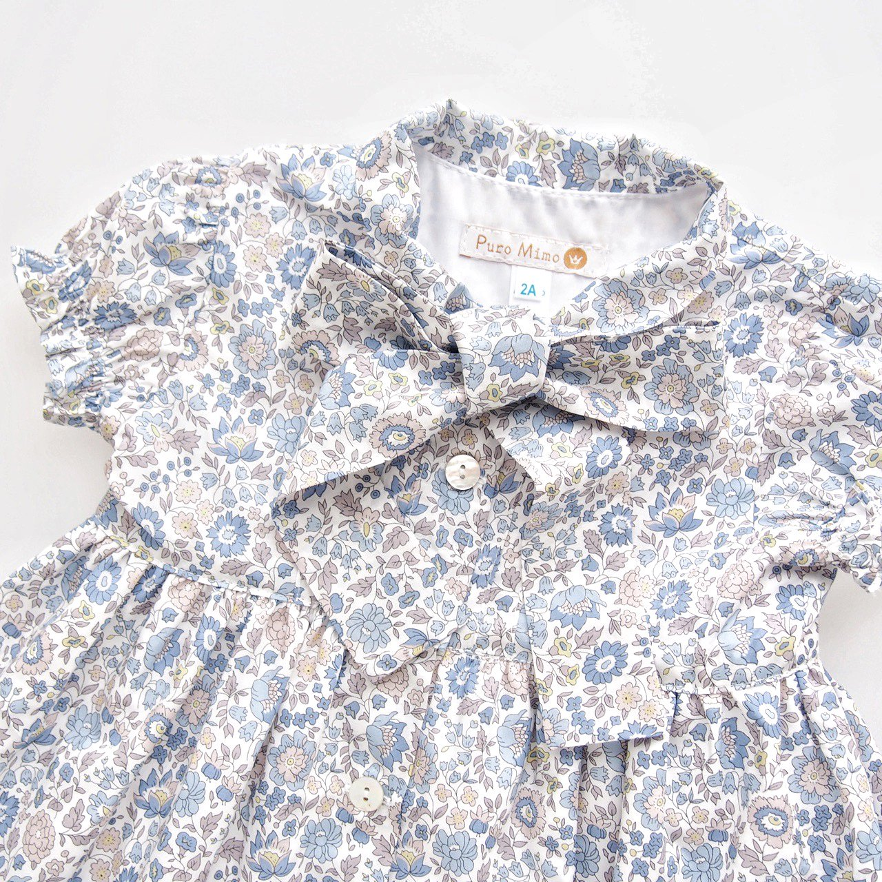 <img class='new_mark_img1' src='https://img.shop-pro.jp/img/new/icons1.gif' style='border:none;display:inline;margin:0px;padding:0px;width:auto;' />San Sakae Petit × Puro Mimo - Bow tie dress (Liberty D'anjo)