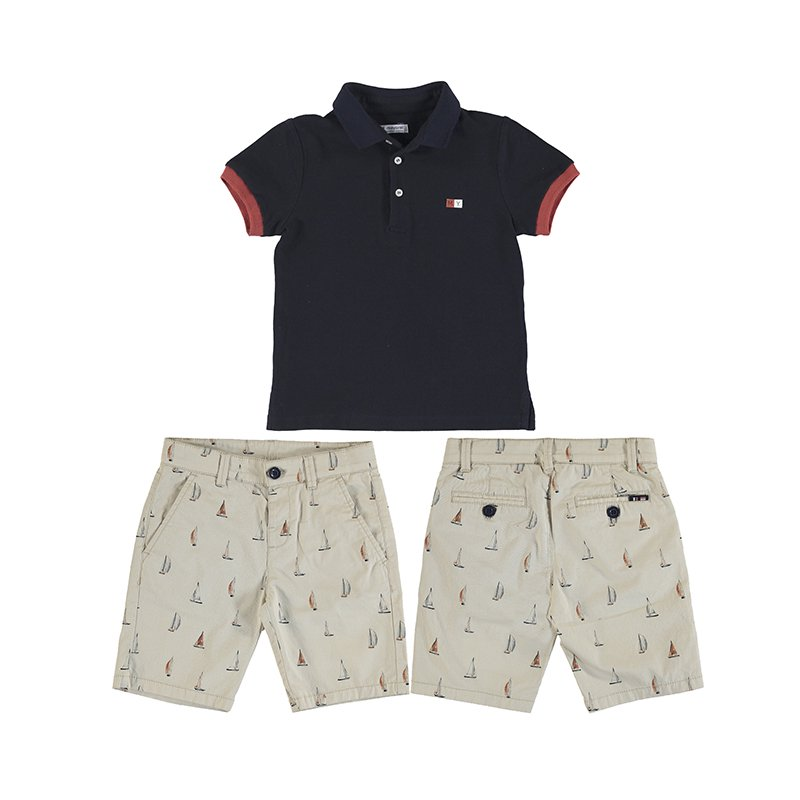 <img class='new_mark_img1' src='https://img.shop-pro.jp/img/new/icons1.gif' style='border:none;display:inline;margin:0px;padding:0px;width:auto;' />Mayoral - Sail away Polo set (Navy)