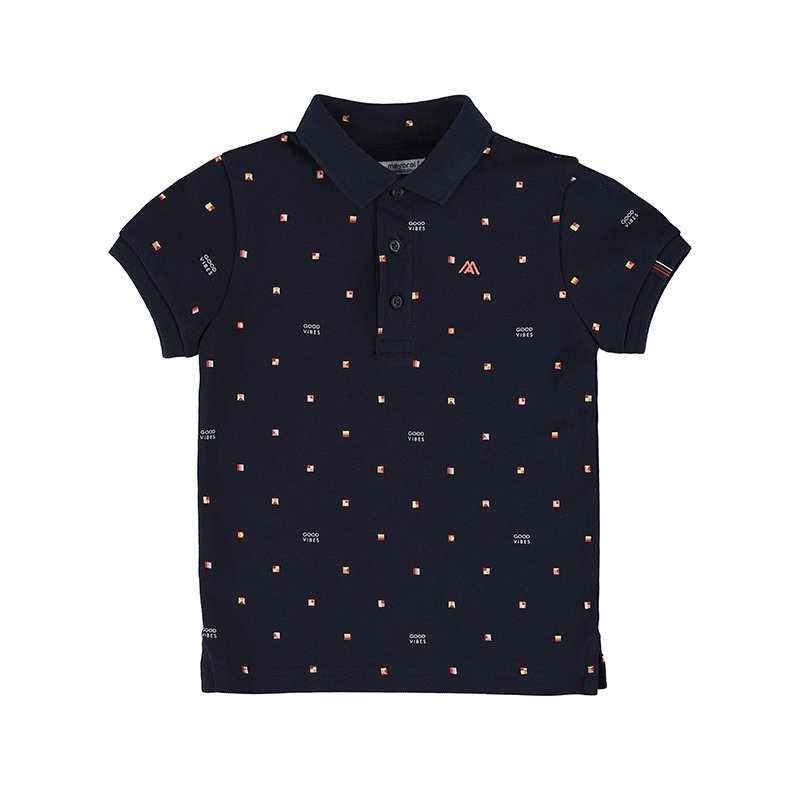 <img class='new_mark_img1' src='https://img.shop-pro.jp/img/new/icons1.gif' style='border:none;display:inline;margin:0px;padding:0px;width:auto;' />Mayoral - Mini print Polo (Navy)