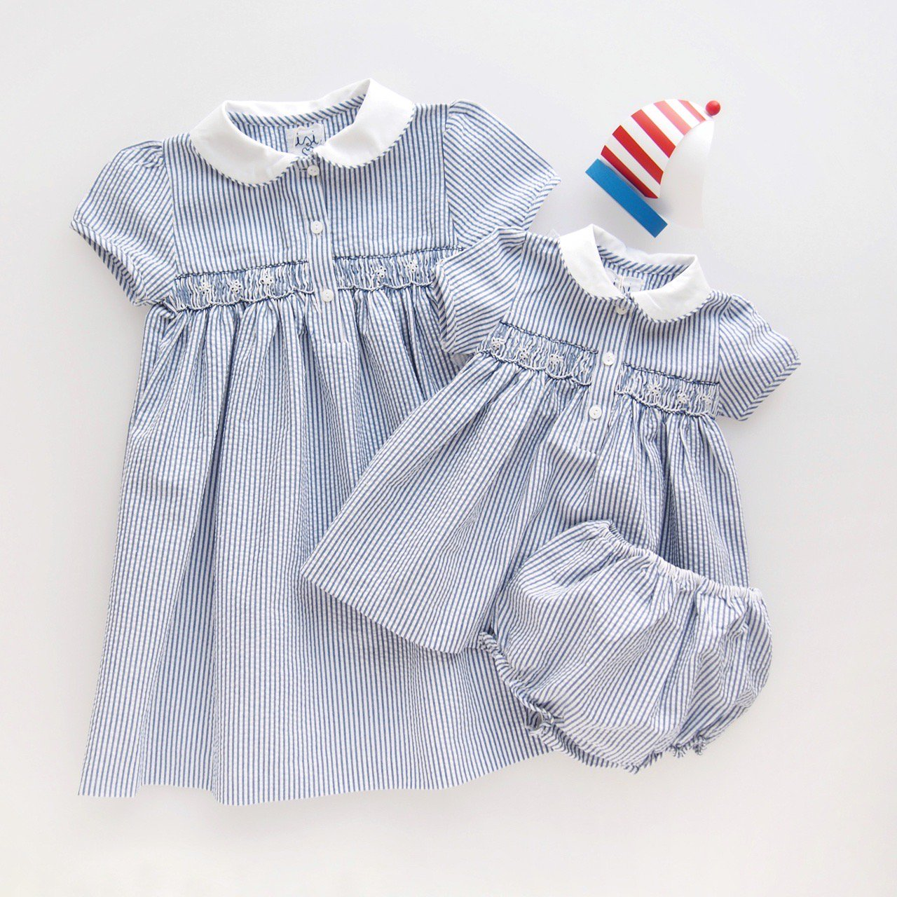 <img class='new_mark_img1' src='https://img.shop-pro.jp/img/new/icons1.gif' style='border:none;display:inline;margin:0px;padding:0px;width:auto;' />Malvi&Co.(ISI) - Stripes smocked dress