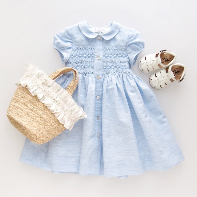 <img class='new_mark_img1' src='https://img.shop-pro.jp/img/new/icons1.gif' style='border:none;display:inline;margin:0px;padding:0px;width:auto;' />Amaia Kids - Jujube dress (Blue chambray)