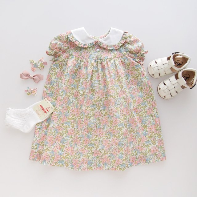 <img class='new_mark_img1' src='https://img.shop-pro.jp/img/new/icons1.gif' style='border:none;display:inline;margin:0px;padding:0px;width:auto;' />Amaia Kids - Pepa dress (Liberty pink)