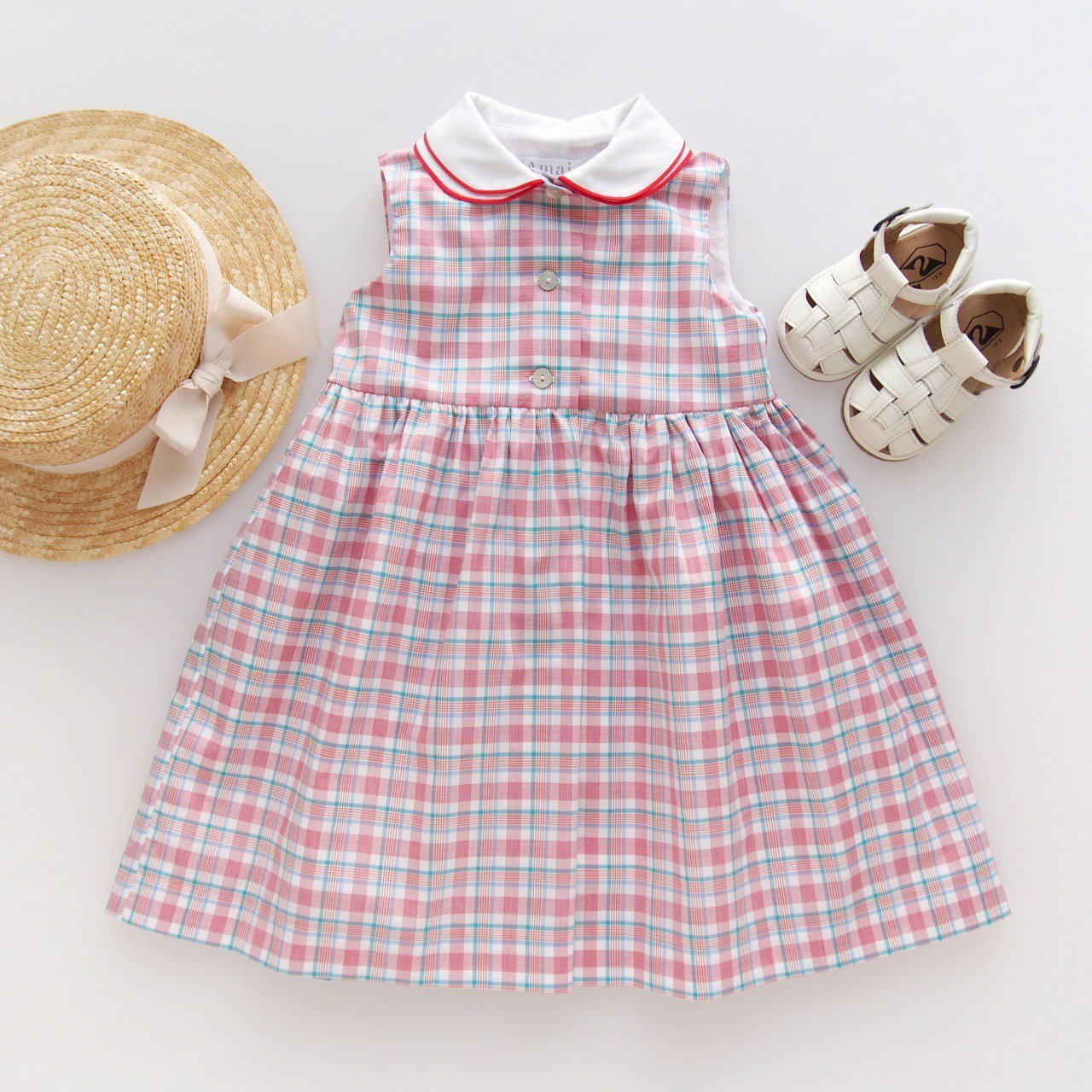 <img class='new_mark_img1' src='https://img.shop-pro.jp/img/new/icons1.gif' style='border:none;display:inline;margin:0px;padding:0px;width:auto;' />Amaia Kids - Caroline dress (Madras check)