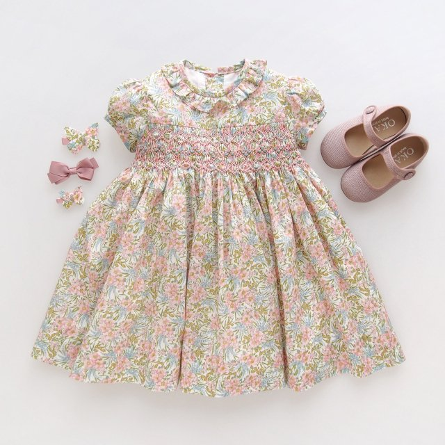 <img class='new_mark_img1' src='https://img.shop-pro.jp/img/new/icons1.gif' style='border:none;display:inline;margin:0px;padding:0px;width:auto;' />Amaia Kids - Moohren dress (Liberty pink)
