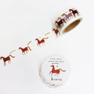 西淑 マスキングテープ(金箔入) Horse