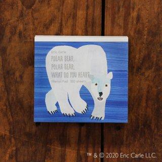 エリック・カール ブロックメモ POLAR BEAR,  POLAR BEAR,  WHAT DO YOU HEAR?(しろくまくん なにがきこえる?)