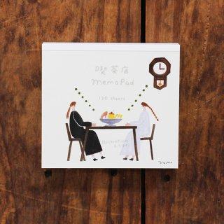ネクタイ ブロックメモ 喫茶店Memo Pad