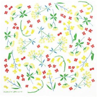 浅野みどり 和ざらしハンカチ sunny flower