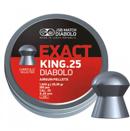 【A】JSB EXACT KING .25 空気銃用ペレット キング 6.35mm 25.39gr 350発入り